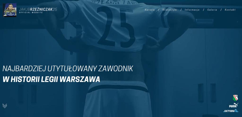 strona www piłkarza